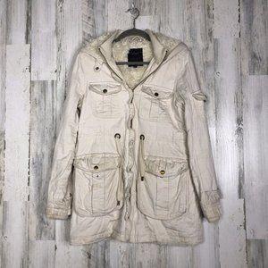Sanctuary Clothing Womens Tan Cargo Jacket Sz M